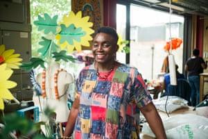 Upholding mas tradition … costume designer Allyson Williams.