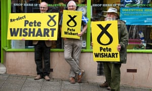 SNP supporters in Perth.