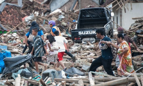 'I tried to run but the waves swallowed me': three days on from the Indonesia tsunami