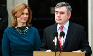 Gordon Brown leaves Downing Street with his wife, Sarah, in 2010 after announcing his resignation as prime minister