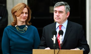 Gordon Brown, with his wife Sarah, leaves Downing Street in May 2010, saying being PM was the second most important job in his life, after being a father.