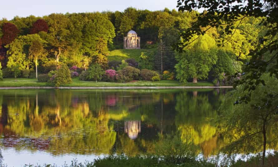 Chinese checkers: the Temple of Apollo reflected in the lake at Stourhead, Wiltshire, was inspired by an Asian pagoda.