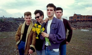 The Smiths (l-r Andy Rourke, Johnny Marr, Morrissey, Mike Joyce), Manchester, 1983.