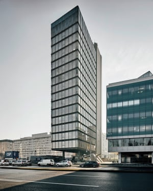 S2 Office Tower, Milan Mihelič, 1972–78, Ljubljana, Slovenia