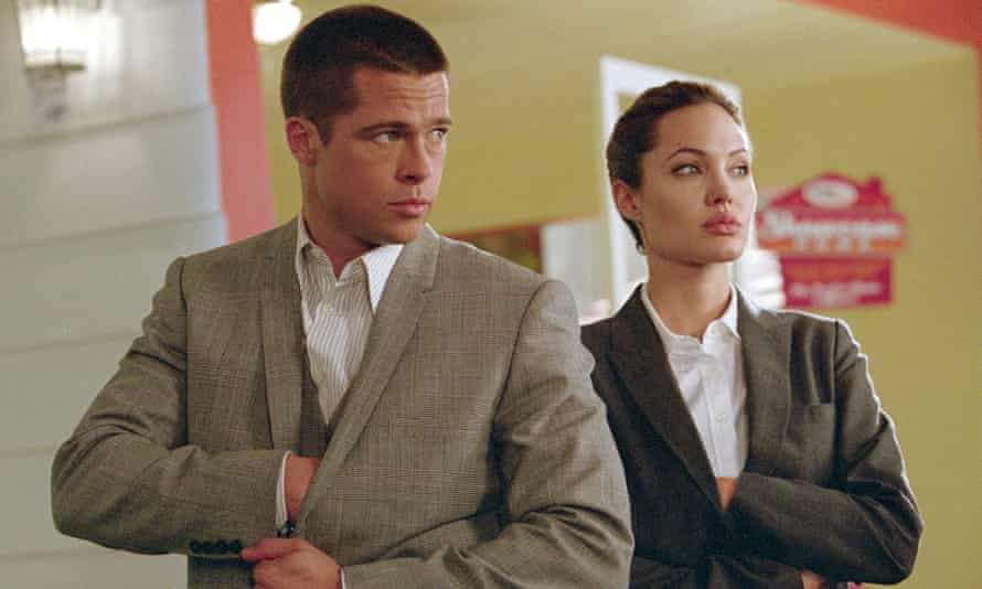 Brad Pitt and Angelina Jolie in 2005 film Mr & Mrs Smith
