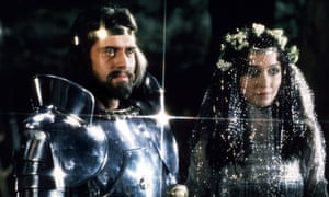 Nigel Terry and Cherie Lunghi in Excalibur.