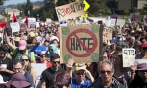 The pro-Trump demonstrator admitted to hitting protesters at a rally in Berkeley, California.