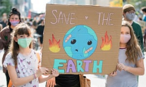 Climate change protest taking place in Montreal, Canada