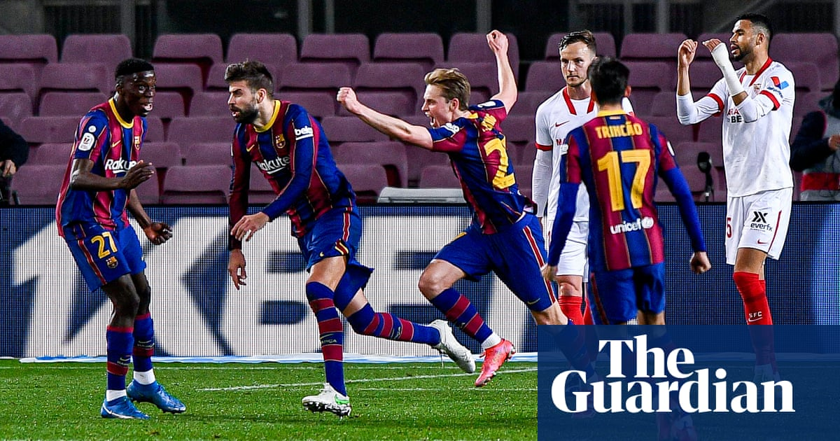 Barcelona stun Sevilla with comeback to end awful week in Copa del Rey final
