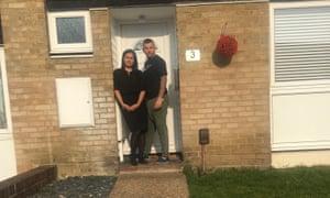 Nicola Milburn and her husband Demir