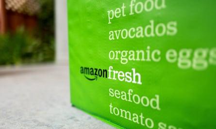 Amazon Fresh bag and logo