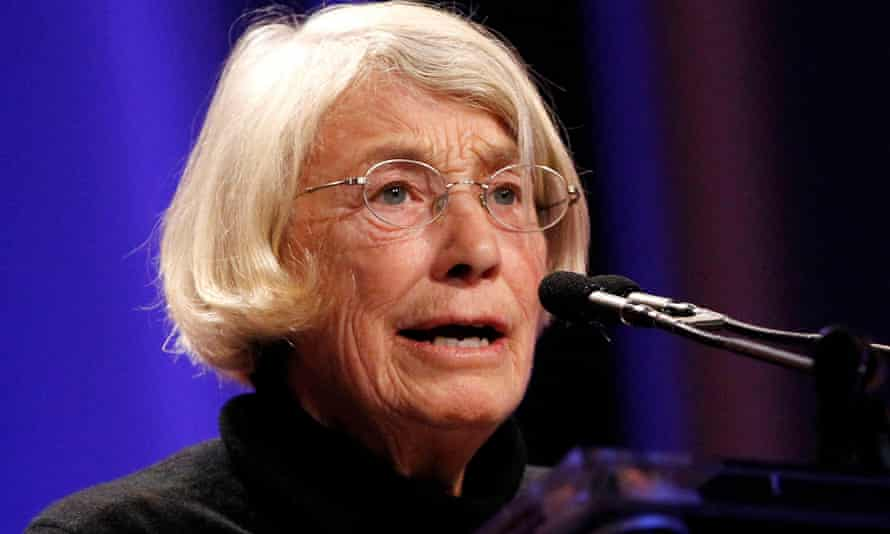 Mary Oliver reading one of her poems at a conference in California.
