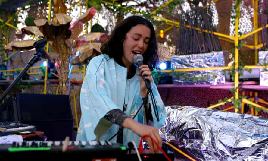 Performing at FYF Fest in 2017