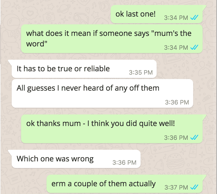 mums the word meaning