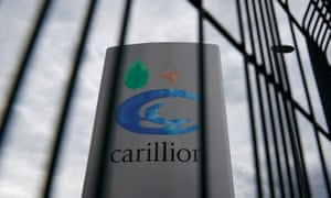 Carillion sign in Manchester, Britain July 13, 2017.