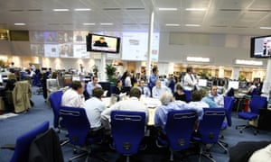 The Daily Telegraph newsroom at its Victoria headquarters.