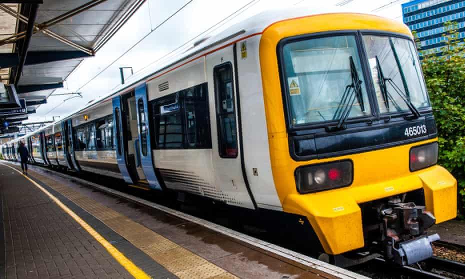 UK, Kent, Ashford, Southeastern network train