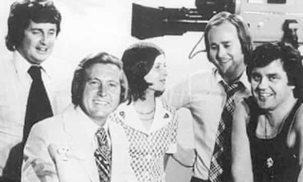 Paul Murphy, left, and the This Day Tonight team – Bill Peach, June Heffernan, Tony Joyce and Peter Luck