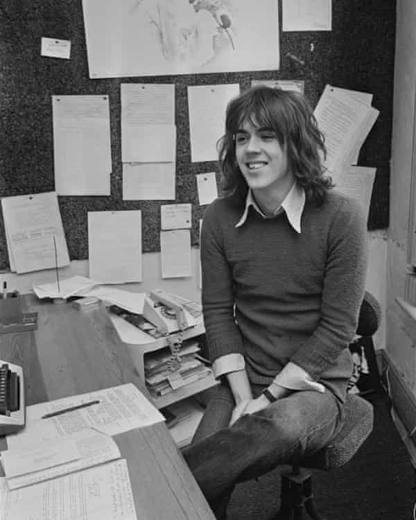 Tony Elliott, founder, owner and editor of Time Out, in January 1971.