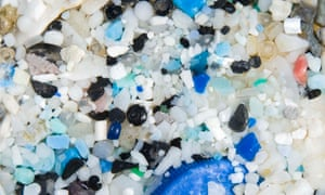 Plastic from a beach