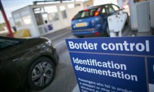 UK border control post