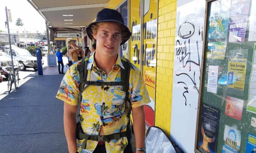 German backpacker Julian Luss can't get a flight home until 10 April due to the coronavirus pandemic