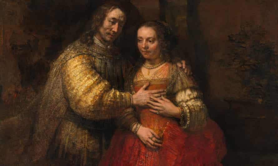 The Jewish Bride by Rembrandt. Click here to see the full image.