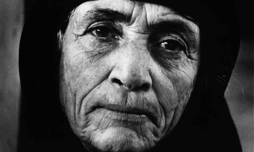 Portrait of a Greek refugee in Larnaca, Cyprus, in 1976.