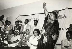 Cyril Ramaphosa, June Mlangemi, Epainette Mbeki, Govan Mbeki Albertina Sisulu and Winnie Mandela