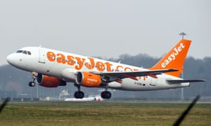 EasyJet aircraft taking off