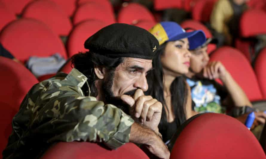 Maduro supporters react to election result
