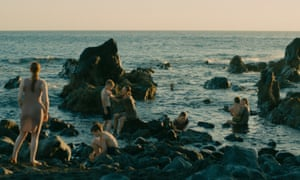 Evolution: boys and mothers on the shore