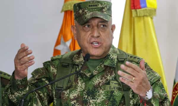 Gen Luis Fernando Navarro Jiménez addresses the issue of former Colombian soldiers allegedly implicated in the assassination President Moise.