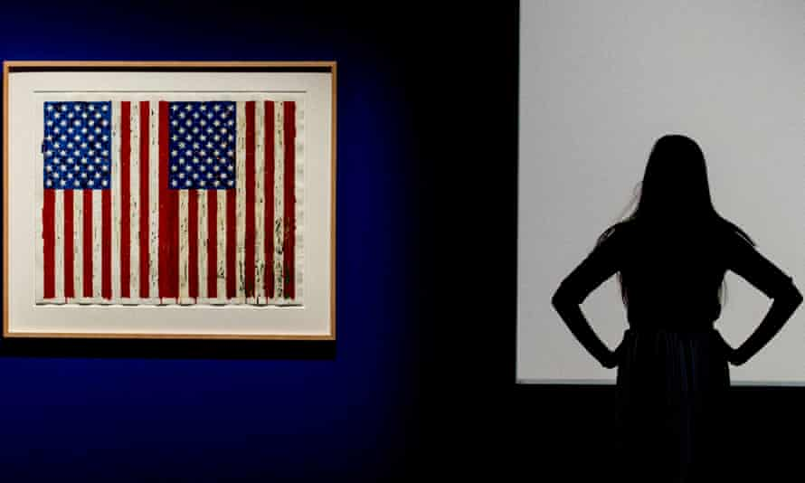 Flags I 1973 by Jasper Johns, on show at the British Museum.