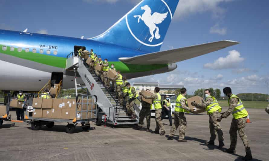 Shipment of PPE arrives at Cardiff airport