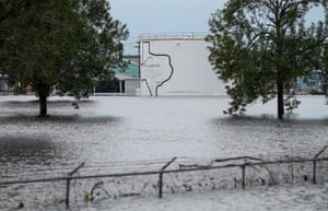 The flooded Arkema Inc chemical plant in Crosby, Texas.