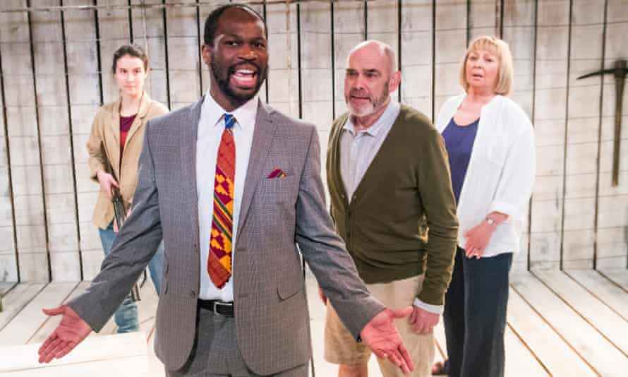 Beatriz Romilly as Chipo, Stefan Adegbola as Charles, Peter Guinness as Guy and Sandra Duncan as Kathleen in After Independence.