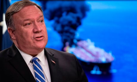 Pompeo again blames Iran for tanker attacks but insists 'we don't want war'