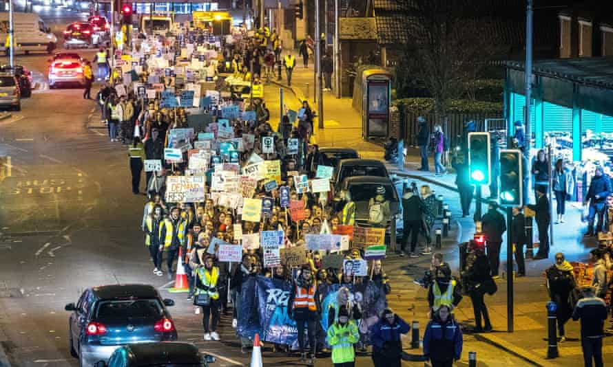 A Reclaim the Night march in Manchester, 2018.