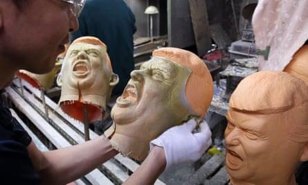 Donald Trump masks being manufactured in Saitama, Japan.