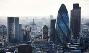 The skyline of the City of London.
