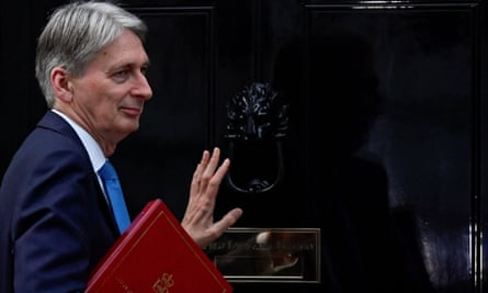 Philip Hammond outside 10 Downing Street
