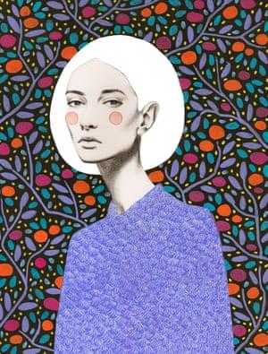 Patterned drawings of women by Argentinian artist Sofia Bonati.