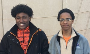 Dyquan Waters (left) and Nathaniel Swanson (right) in Brooklyn