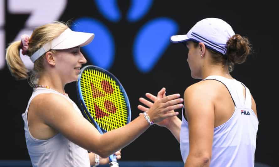Daria Gavrilova and Ash Barty