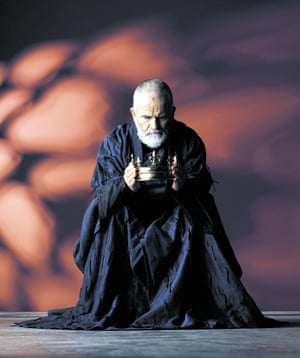 Publicity for Ian Holm's King Lear.
