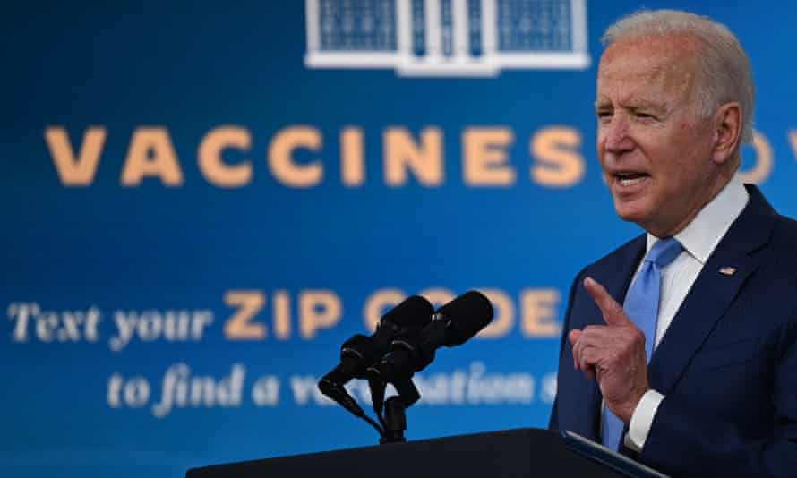 'Resurgent Covid numbers are dragging the US economy down, and Biden is looking at a dark winter if more Americans don't vax up.'