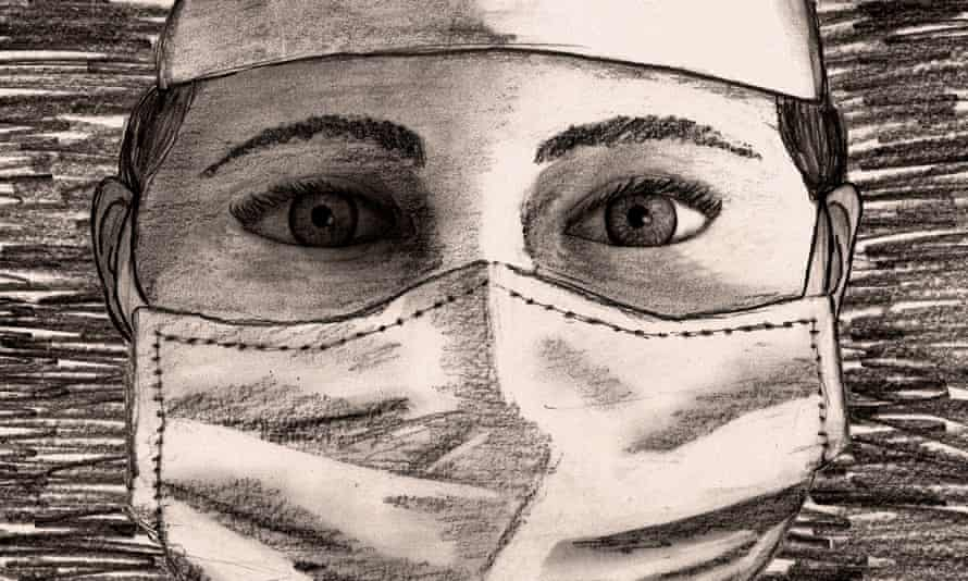 An illustration of a frontline medical worker during the time of coronavirus