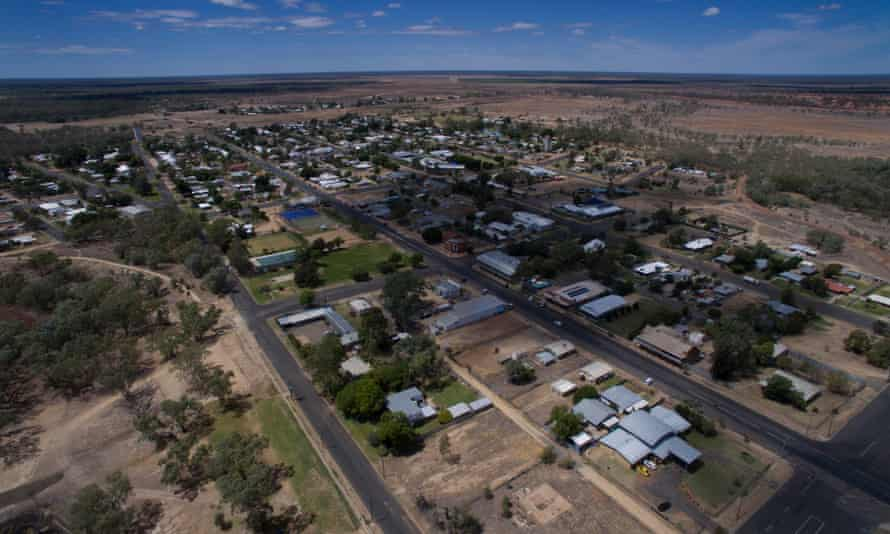 The NSW town of Brewarrina, where temperatures are expected to reach 40C on Sunday.