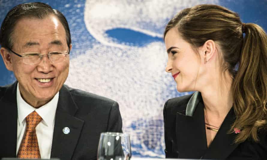 Emma Watson and Ban Ki Moon